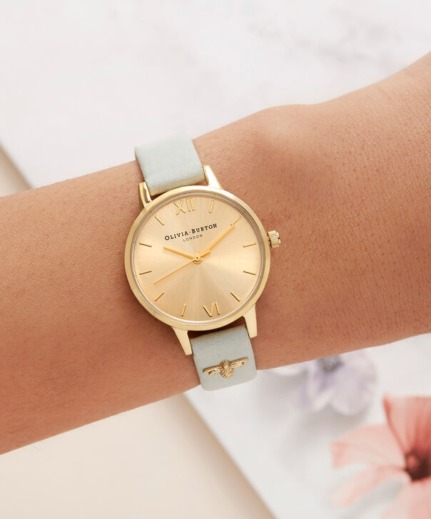 OLIVIA BURTON LONDON  Embellished Strap Sage & Gold OB16ES17 – Midi Dial Round in Gold - Other view