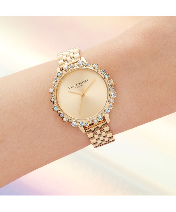 OLIVIA BURTON LONDON Limited Edition Bejewelled Case Watch, Gold BraceletOB16US30 – Bejewelled Case Watch - Other view