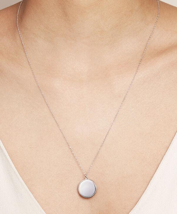 OLIVIA BURTON LONDON Engravables Disc Necklace SilverOBJ16ENN12 – Engravable Disc Necklace - Other view
