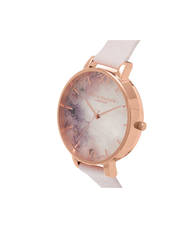 OLIVIA BURTON LONDON Semi Precious Blossom & Rose GoldOB16SP03 – Big Dial Round in Rose Gold - Side view
