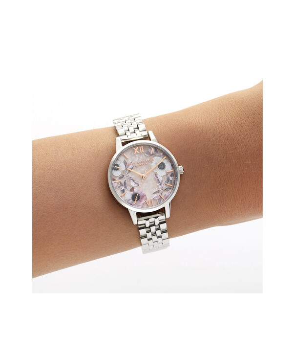 OLIVIA BURTON LONDON Midi Rose Quartz & Silver BraceletOB16SP07 – Midi Dial in Silver and Silver - Other view