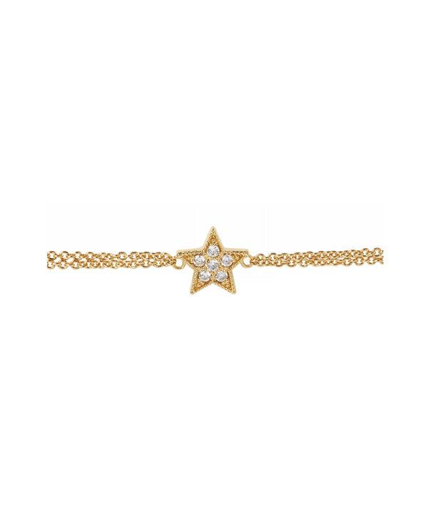 OLIVIA BURTON LONDON Celestial Star Chain BraceletOBJ16CLB01 – Celestial Chain Bracelet - Side view