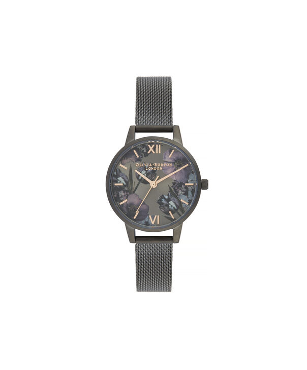 OLIVIA BURTON LONDON Twilight Midi Dial WatchOB16TW07 – Midi Dial in black and Gunmetal - Front view
