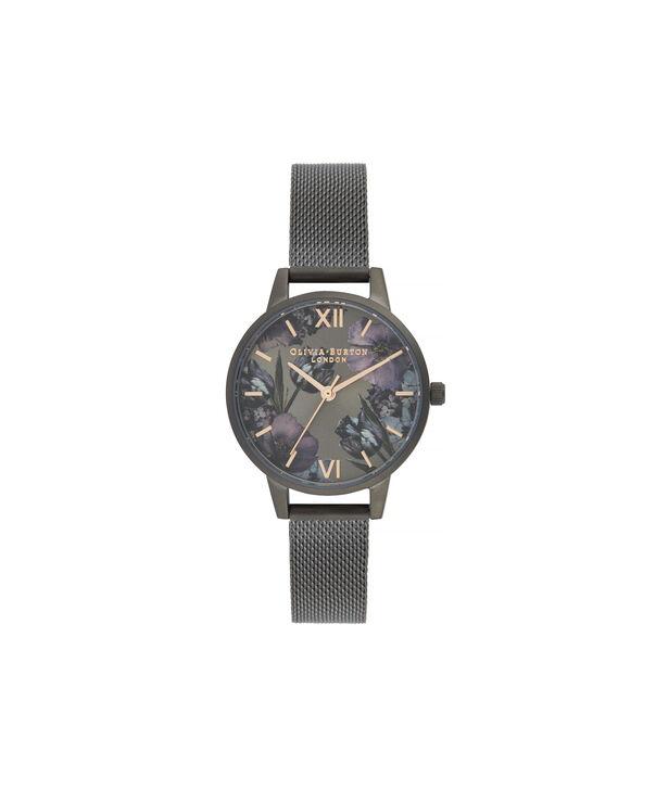 OLIVIA BURTON LONDON Twilight Midi Dial WatchOB16TW07 – Midi Dial in black and Gunmetal - Front view