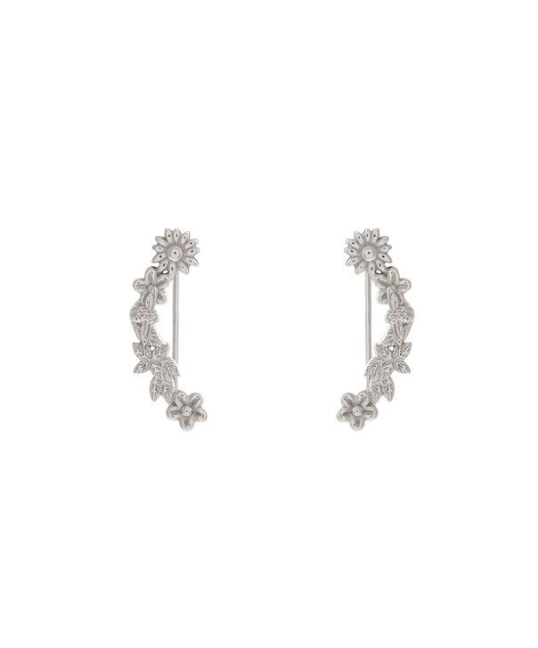 OLIVIA BURTON LONDON  Bee Blooms Crawler Earrings Silver  OBJ16BBE03 – Bee Blooms Crawler Earrings - Front view
