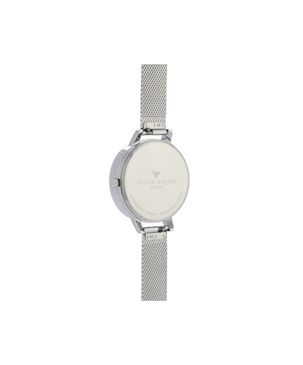 OLIVIA BURTON LONDON 3D Bee Demi Dial WatchOB16AM159 – Demi Dial in silver and Silver - Back view