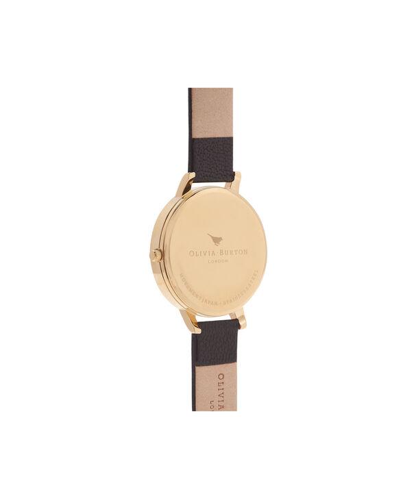 OLIVIA BURTON LONDON  Big Dial Black And Gold Watch OB15BD55 – Big Dial Round in Black - Back view