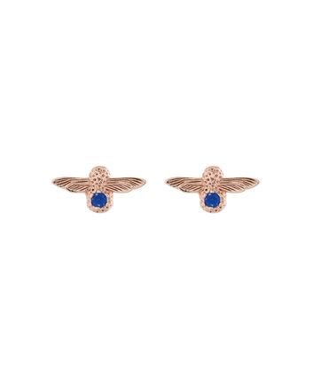 OLIVIA BURTON LONDON 3D Bee BejewelledOBJ16AME27 – 3D Bee Bejewelled Stud Earrings - Front view