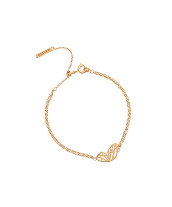 OLIVIA BURTON LONDON  Butterfly Wing Chain Bracelet GoldOBJ16EBB01 – Butterfly Wing Chain Bracelet - Front view