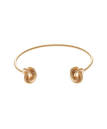 OLIVIA BURTON LONDON  Forget Me Knot Cuff Bracelet Gold OBJ16KDB01 – Forget Me Knot Cuff - Front view