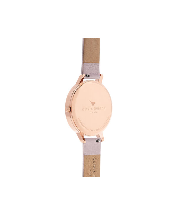 OLIVIA BURTON LONDON  Sunray Dial Blossom & Rose Gold OB16BD110 – Big Dial Round in Rose Gold and Pink - Back view