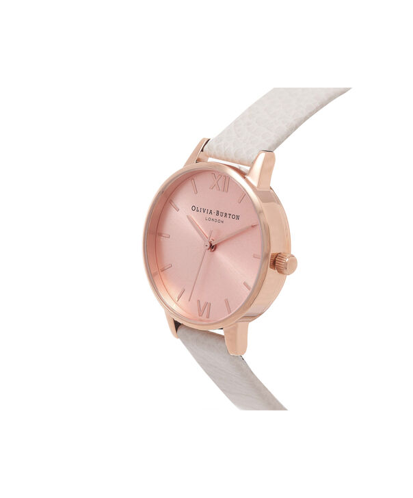 OLIVIA BURTON LONDON  Midi Dial Mink And Rose Gold Watch OB14MD21 – Midi Dial Round in Rose Gold and Mink - Side view
