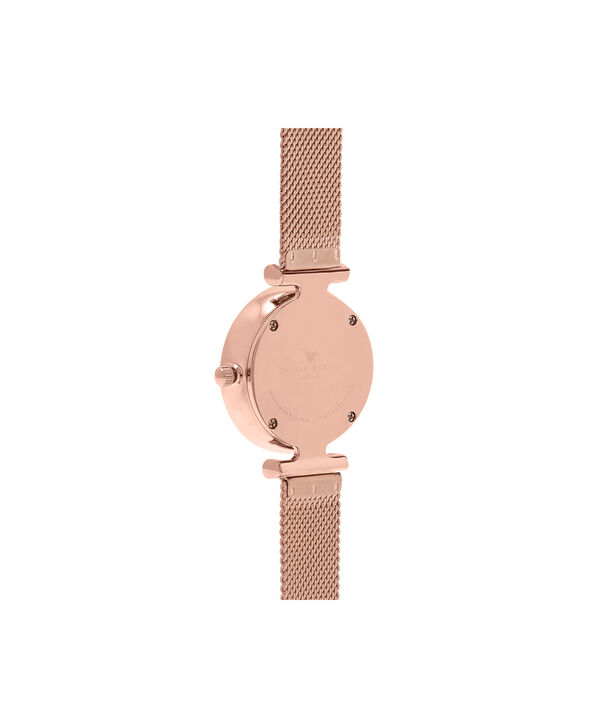OLIVIA BURTON LONDON  Rose Gold Mesh Watch OB16AM105 – Midi Dial in White and Rose Gold - Back view