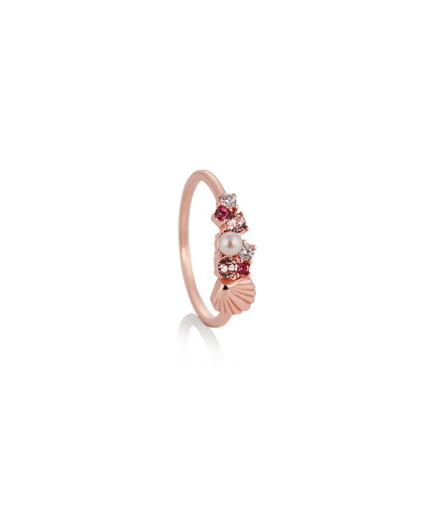OLIVIA BURTON LONDON Under The Sea Shell Bubble Ring Rose Gold MOBJSCR02B – SHOPBAG_LABEL - Side view