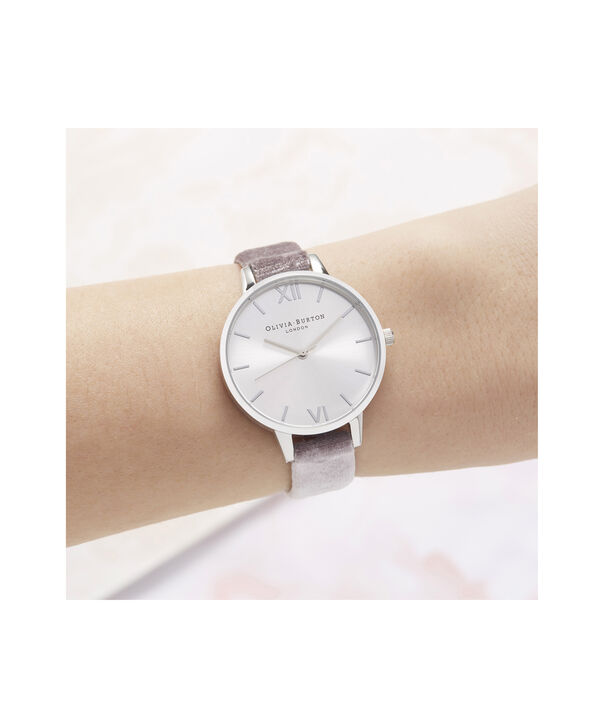 OLIVIA BURTON LONDON Sunray Demi Dial Watch with Lilac VelvetOB16DE04 – Demi Dial in parma violet and Silver - Other view
