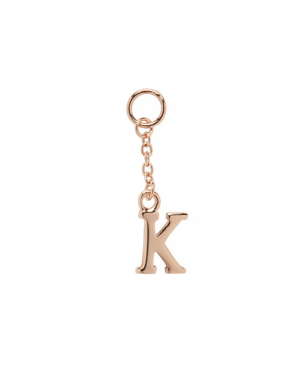 OLIVIA BURTON LONDON  K Alphabet Huggie Charm Rose Gold OBJ16HCRGK – Charms - Front view
