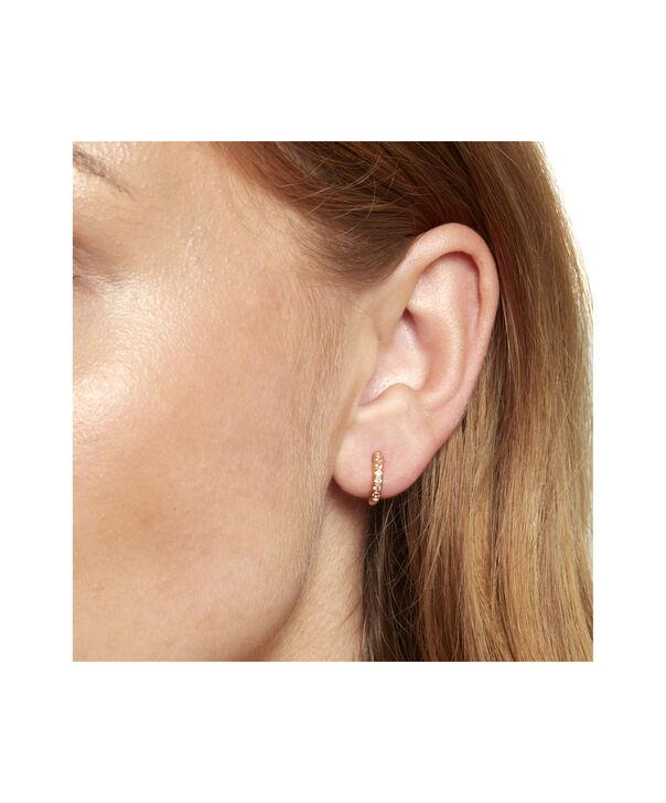 OLIVIA BURTON LONDON Huggie Hoop Earrings with White TopazOBJ16COE21 – Huggie Hoop Earrings - Back view
