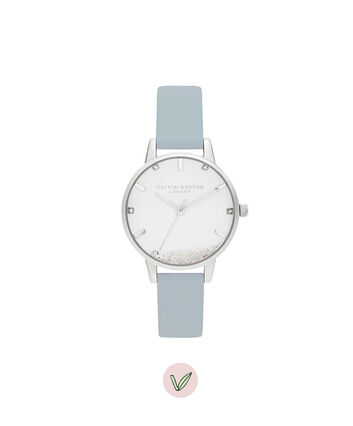 OLIVIA BURTON LONDON The Wishing Watch Vegan Chalk Blue & SilverOB16SG07 – The Wishing Watch Vegan Chalk Blue & Silver - Front view