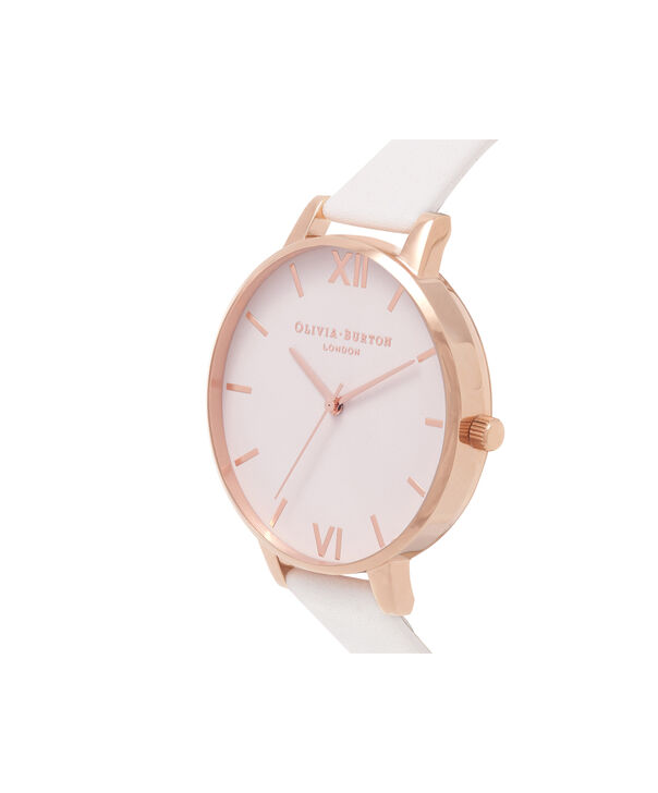 OLIVIA BURTON LONDON  Big Dial Blush Dial & Rose Gold Watch OB16BD95 – Big Dial Round in Blush - Side view