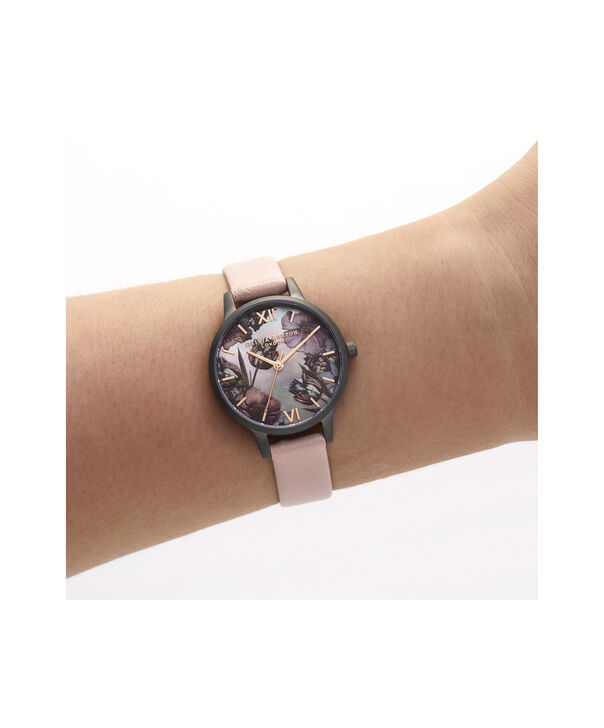 OLIVIA BURTON LONDON Twilight Midi Dial Watch with Grey Mother-Of-PearlOB16TW04 – Midi Dial in pink and Gunmetal - Other view