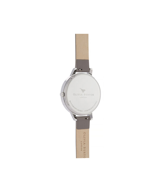 OLIVIA BURTON LONDON Abstract Florals Demi Dial WatchOB16VM32 – Demi Dial in grey and Silver - Back view