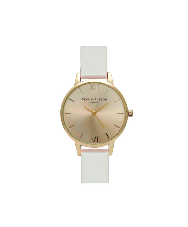 OLIVIA BURTON LONDON  Midi Dial Blush And Gold Watch OB16MD74 – Midi Dial Round in Gold and Blush - Front view