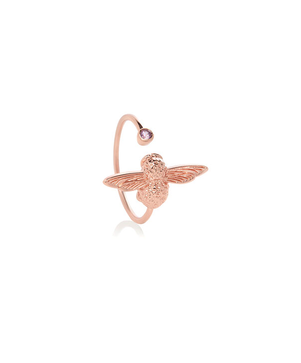 OLIVIA BURTON LONDON Bejewelled Bee Ring Rose Gold & AmethystOBJAMR25 – Ring in Rose Gold - Side view