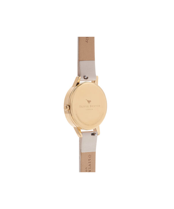 OLIVIA BURTON LONDON  Vegan Friendly Nude & Gold Watch OB16WL67 – Midi Dial Round in White and Nude - Back view