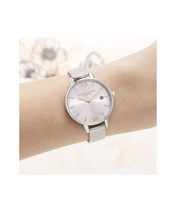 OLIVIA BURTON LONDON Sunray Demi Dial Watch with Boucle MeshOB16DE01 – Demi Dial in silver and Silver & Rose Gold - Other view