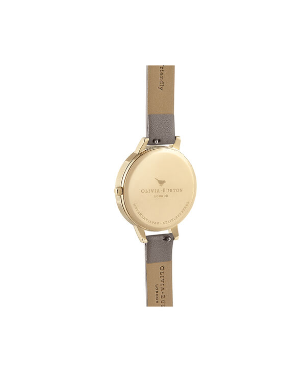 OLIVIA BURTON LONDON Demi Nude Dial Vegan London Grey & GoldOB16MV98 – Demi Dial in London Grey and Gold - Back view