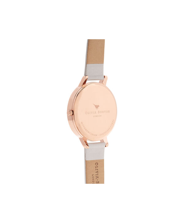 OLIVIA BURTON LONDON  Lace Detail Blush & Rose Gold Watch OB16MV53 – Big Dial Round in Rose Gold and Blush - Back view