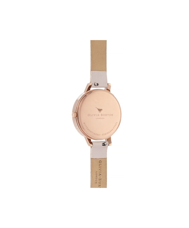 OLIVIA BURTON LONDON Semi Precious Demi Dial WatchOB16SP14 – Demi Dial in pink and Rose Gold - Back view