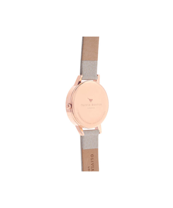 OLIVIA BURTON LONDON  Wonderland Mink And Rose Gold Watch OB14WD24 – Midi Dial Round in Silver and Mink - Back view