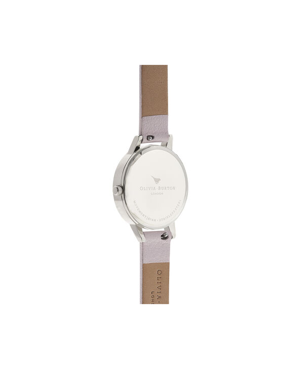 OLIVIA BURTON LONDON  Wonderland Rose Sand and Silver Watch OB16WD66 – Midi Dial Round in Silver and Rose Sand - Back view