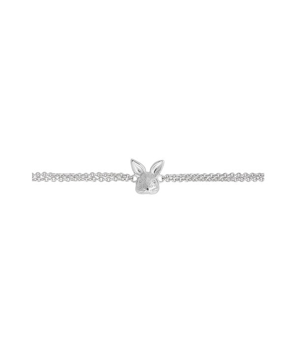OLIVIA BURTON LONDON 3D Bunny Chain Bracelet SilverOBJAMB98 – 3D Bunny Chain Bracelet Silver - Side view