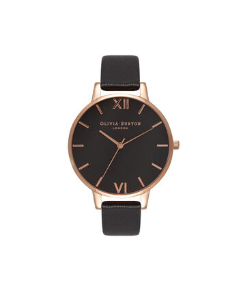 OLIVIA BURTON LONDON Black DialOB15BD66 – Big Dial Round in Black - Front view