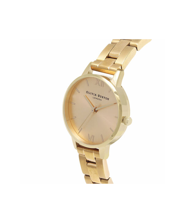 OLIVIA BURTON LONDON  Midi Dial Bracelet Gold Watch OB13BL04B – Midi Dial Round in Gold - Side view