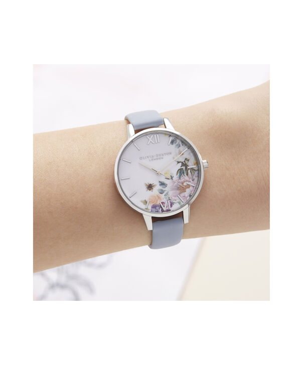 OLIVIA BURTON LONDON Enchanted Garden Demi Dial WatchOB16EG114 – Demi Dial in blue and Silver - Other view