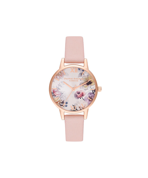 OLIVIA BURTON LONDON Sunlight Florals Dusty Pink & Rose GoldOB16EG115 – Sunlight Florals Dusty Pink & Rose Gold - Front view
