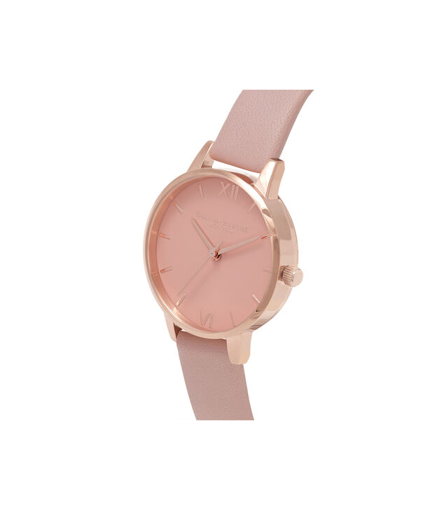 OLIVIA BURTON LONDON  Midi Dial Pink And Rose Gold Watch OB16MD77 – Midi Dial Round in Rose Gold and Pink - Side view
