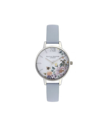 4b61424590d3 OLIVIA BURTON LONDON Enchanted Garden Demi Dial WatchOB16EG114 – Demi Dial  in blue and Silver -