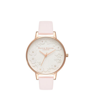 OLIVIA BURTON LONDON  Artisan Dial Blossom & Rose Gold OB16AR01 – Big Dial Round in Rose Gold and Pink - Front view