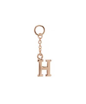 OLIVIA BURTON LONDON  H Alphabet Huggie Charm Rose Gold OBJ16HCRGH – Charms - Front view