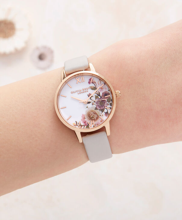 OLIVIA BURTON LONDON  Enchanted Garden Blush & Rose Gold Watch OB16WG37 – Midi Dial Round in Rose Gold and Blush - Other view