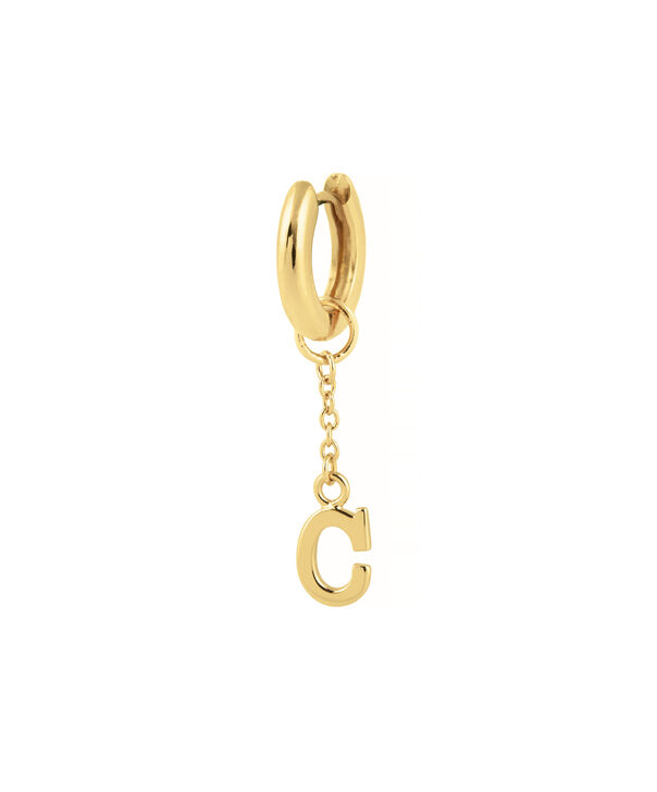 OLIVIA BURTON LONDON  C Alphabet Huggie Charm Gold OBJ16HCGC – Charms - Side view