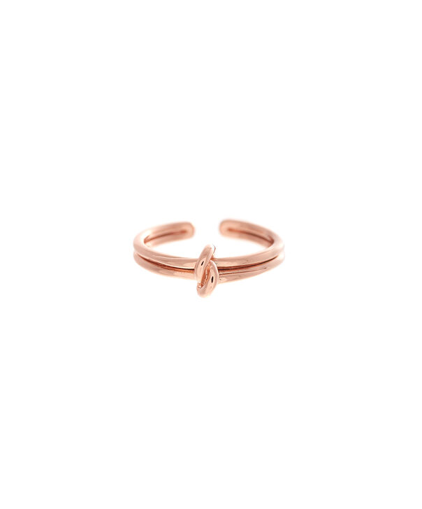 OLIVIA BURTON LONDON  Forget Me Knot Ring Rose GoldOBJ16KDR02 – Forget Me Knot Ring - Front view