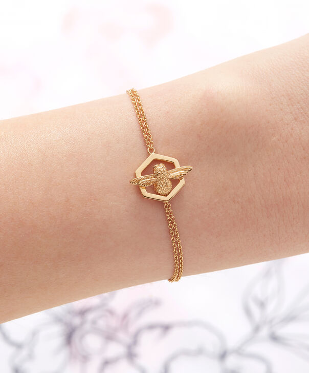 OLIVIA BURTON LONDON  Honeycomb Bee Chain Bracelet Gold  OBJ16AMB32 – Honeycomb Bee Chain Bracelet - Other view