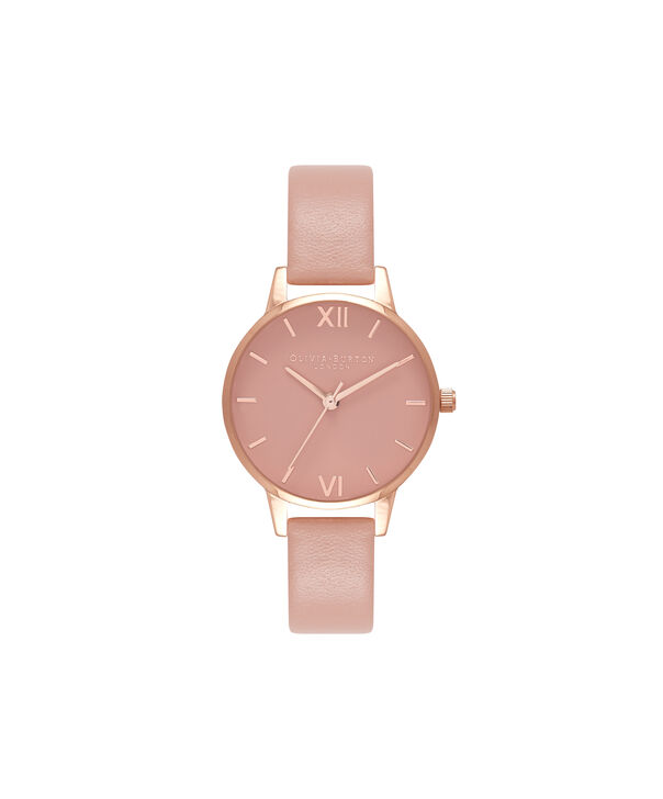 OLIVIA BURTON LONDON  Midi Dial Pink And Rose Gold Watch OB16MD77 – Midi Dial Round in Rose Gold and Pink - Front view
