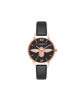 Vegan Friendly Black & Rose Gold Watch