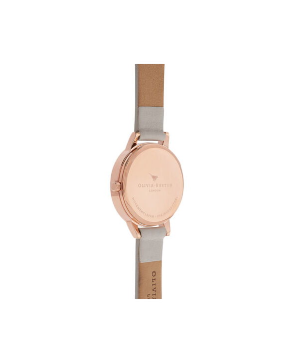OLIVIA BURTON LONDON  Lace Detail Blush & Rose Gold Watch OB16MV69 – Midi Dial Round in Blush - Back view
